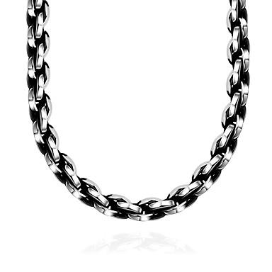 levne Pánské šperky-Pánské Límeček Geometrické Módní Nerez Nerezové Stříbrná Náhrdelníky Šperky 1 Pro Dar Denní