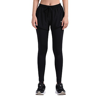 Dam Tights för jogging - Svart sporter Cykling Tights   Leggings Yoga 13ada306fd042