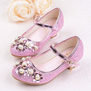 cfd84110fdcb Girls  Shoes PU(Polyurethane) Spring   Summer Comfort   Flower Girl Shoes   Tiny  Heels for Teens Heels for Silver   Purple   Pink 6497651 2019 –  19.99