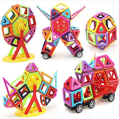 Blocos Magnéticos Azulejos magnéticos Blocos de Construir Tema Clássico Carro Transformável Para Meninos Para Meninas Brinquedos Dom