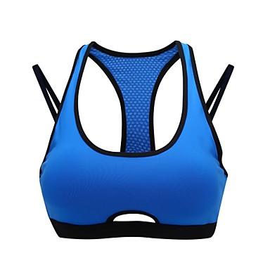 Γυναικεία Αθλητικό σουτιέν Αθλητικά Σουτιέν Με σπορ πλάτη Γιόγκα Ελαστικό Ενισχυμένο Suport Ușor Πράσινο Μπλε