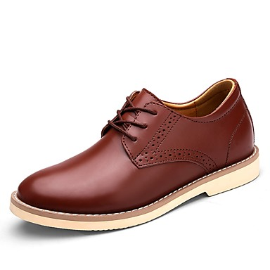 Hombre Zapatos Cuero real Semicuero Primavera Otoño Confort Oxfords Paseo para Casual Negro Marrón BwjxtvE