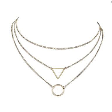 Γυναικεία πολυεπίπεδη Κολιέ Πολυεπίπεδο Καρνάς Κολιέ κυρίες Απλός Πολυεπίπεδο Κράμα Χρυσό Ασημί Κολιέ Κοσμήματα 3 Για Καθημερινά Ημερομηνία