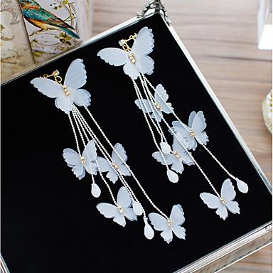 Γυναικεία Κρυστάλλινο Σκουλαρίκια με Κλιπ Λουλούδι Φιογκάκι Κομψό Σκουλαρίκια Κοσμήματα Λευκό Για Γάμου Αργίες 1