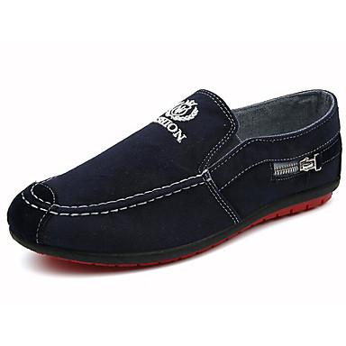 Hombre Zapatos Tela Verano Confort Zapatos de taco bajo y Slip-On Gris / Azul IYyypUY