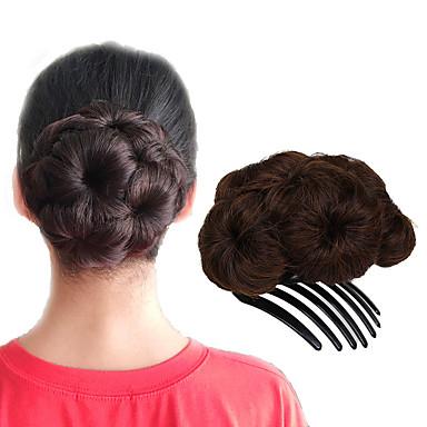 Σινιόν Κότσος Updo Κορδόνι Συνθετικά μαλλιά Κομμάτι μαλλιών Hair Extension Φράουλα Ξανθιά / Medium Auburn / Μαύρο / Καστανό / Medium Auburn