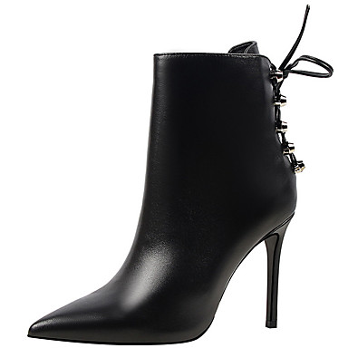 Shoes Synthetic Winter Fall Cowboy / Western Boots Fashion Boots Combat Boots Boots Stiletto Heel Booties/Ankle Boots Dress Party &