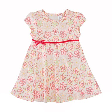 Dítě Dívčí Jednoduchý   Na běžné nošení Květinový Krátký rukáv Bavlna Šaty    Toddler 6463949 2019 –  8.97 521fcc1186