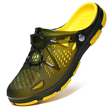 cheap Men's Backless Shoes-Comfort Shoes Silica Gel Summer Slippers & Flip-Flops Color Block Black / Green / Dark Blue / EU40