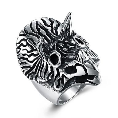 levne Pánské šperky-Pánské Vyzvánění Stříbrná Nerez Titanová ocel Rokové Hip-hop Velkoformátové Párty Bar Šperky Parrot