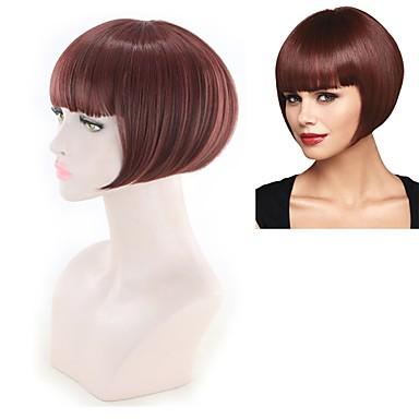 Συνθετικές Περούκες Ίσιο Ίσια Περούκα Κόκκινο Συνθετικά μαλλιά Κόκκινο