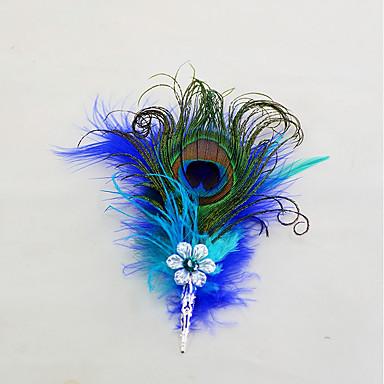 Λουλούδια Γάμου Μπουτονιέρες / Μαντήλι / Καρφίτσες & Τσιμπιδάκια Γάμου / Εκδήλωση / Πάρτι Φτερά / Φτερά Χήνας 6,69