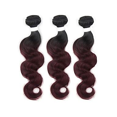 3 δεσμίδες Βραζιλιάνικη Κυματομορφή Σώματος Remy Τρίχα Ombre Υφάνσεις ανθρώπινα μαλλιών Επεκτάσεις ανθρώπινα μαλλιών / 10A