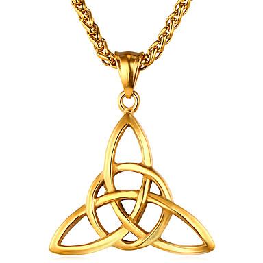 Ανδρικά Κρεμαστά Κολιέ Γεωμετρική franco αλυσίδα Etnic Σκωτσέζικο Ανοξείδωτο Ατσάλι Χρυσό Ασημί Κολιέ Κοσμήματα 1 Για Δώρο Καθημερινά