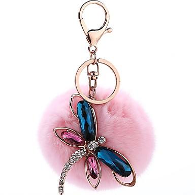 Μπρελόκ λιβελούλα Γλυκός Κρύσταλλο Μοδάτο Δαχτυλίδι Κοσμήματα Ροζ Ανοικτό / Βαθυγάλαζο Για Καθημερινά