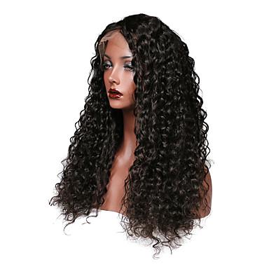 Φυσικά μαλλιά Δαντέλα Μπροστά Χωρίς Κόλλα Δαντέλα Μπροστά Περούκα στυλ Περουβιανή Σγουρά Περούκα 150% Πυκνότητα μαλλιών με τα μαλλιά μωρών Φυσική γραμμή των μαλλιών 100 / Αμεταποίητος