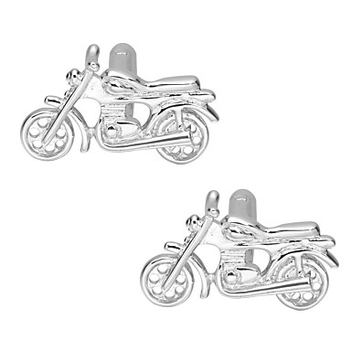 cheap Men's Cufflinks-Cufflinks Moto Classic Basic Brooch Jewelry Silver For Daily Formal
