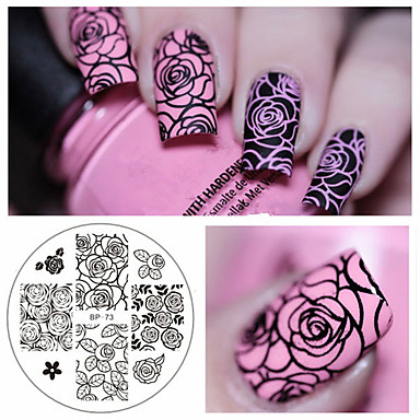 cheap Nail Stamping-1 pcs Artificial Nail Tips nail art Manicure Pedicure Fashion Daily