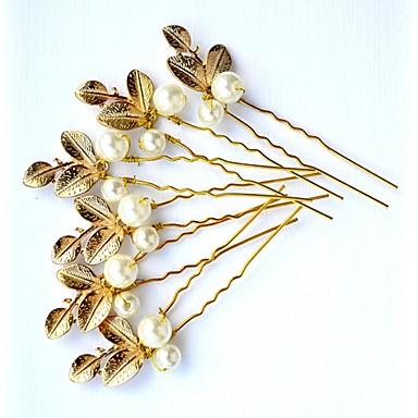 povoljno Party pokrivala za glavu-Imitacija bisera / Legura Kosa za kosu s Faux Pearl 3 komada Vjenčanje / Zabava / večer Glava