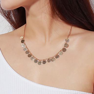 levne Pánské šperky-Pánské Dámské Náhrdelníky s přívěšky Rokové Velkoformátové Měď Slitina Zlatá Stříbrná Náhrdelníky Šperky Pro Denní Bar