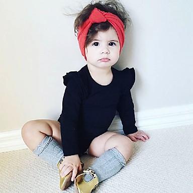 povoljno Odjeća za bebe-Dijete koje je tek prohodalo Djevojčice Jednostavan Jednobojni Dugih rukava Regularna Jednodijelno Obala