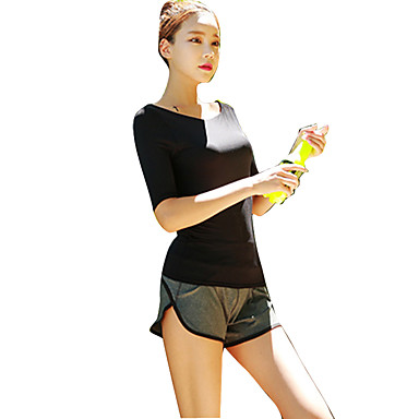 """Womens Activewear NEW /""""Caat/"""" Themed Scoop Neck Black Athletic Styled Top"""