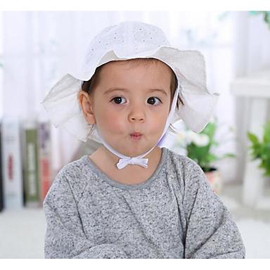 Νήπιο Κοριτσίστικα Βαμβάκι Καπέλα Λευκό / Ανθισμένο Ροζ Ένα Μέγεθος