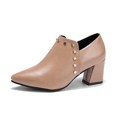 Explorer Sortie wiki Mujer Zapatos PU Primavera / Otoño Confort Botas Tacón Cuadrado Negro / Rojo Pas Cher Large Gamme De t2YVBiIQ