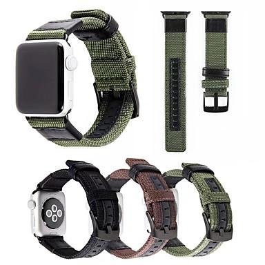 Παρακολουθήστε Band για Apple Watch Series 4/3/2/1 Apple Μοντέρνο Κούμπωμα Νάιλον / Γνήσιο δέρμα Λουράκι Καρπού