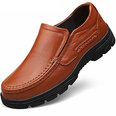 Hombre Zapatos Cuero de Napa Primavera / Otoño Confort Oxfords Negro / Marrón Claro / Fiesta y Noche / Zapatos formales jbrAR