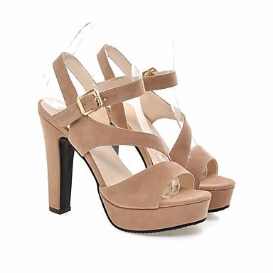 Mujer Zapatos Cuero Primavera / Otoño Confort Sandalias Tacón Bajo Punta cerrada Corbata de Lazo Gris / Rojo / Azul / Con Lazo CTOowZ