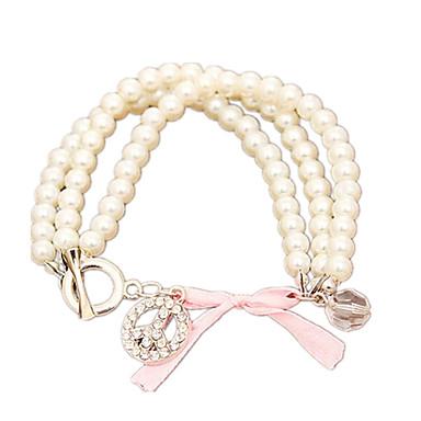 povoljno Modne narukvice-Žene Biseri Narukvica s perlama dame Moda Imitacija bisera Narukvica Nakit Obala Za Dnevno