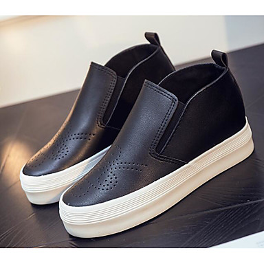 Mujer Zapatos PU microfibra sintético Primavera / Otoño Confort Zapatillas de deporte Media plataforma Blanco / Negro Jeu 100% Garanti La Sortie En Édition Limitée Grand Escompte Mode En Ligne xFBe8l