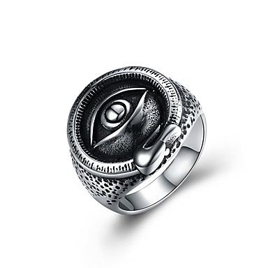 Ανδρικά Δακτύλιος Δήλωσης Δακτυλίδι με σφραγίδα Illuminati Ring Ασημί Ανοξείδωτο Ατσάλι Κινούμενα σχέδια Πανκ Μοντέρνα Απόκριες Κλαμπ Κοσμήματα Monster Μαγεία