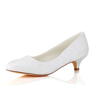 81ca2882a5013 Women's Wedding Shoes Kitten Heel Round Toe Elastic Fabric Basic Pump  Spring / Fall White / Ivory / Party & Evening 6489149 2019 – $38.49