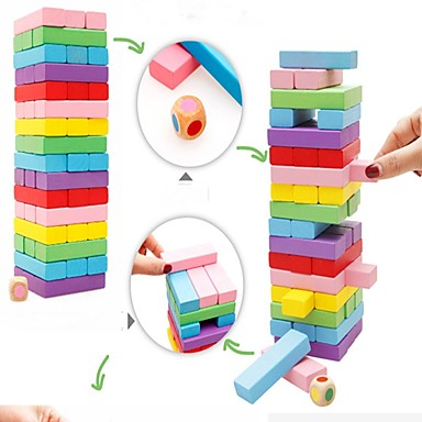 Building Blocks Stacking Game Stacking Tumbling Tower Classic Theme compatible Legoing Professional Parent-Child Interaction Balance Classic Classic & Timeless Boys' Girls' Toy Gift / Wooden