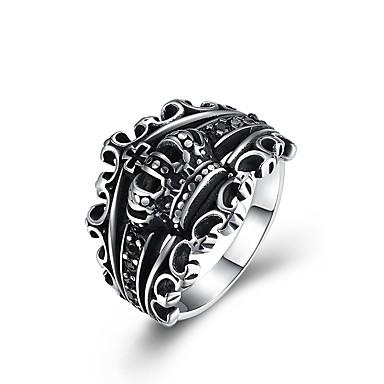 levne Pánské šperky-Pánské Vyzvánění Stříbrná Nerez Titanová ocel Animák Módní Velkoformátové Obřad Klub Šperky Korunka