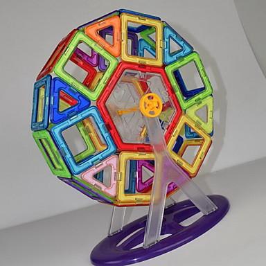 Μαγνητικό μπλοκ Μαγνητικά πλακίδια Τουβλάκια 52 pcs Αρχιτεκτονική Οχήματα Μεταμορφώσιμος Χειροποίητο Κλασσικό Κλασσικό & Διαχρονικό Αγορίστικα Κοριτσίστικα Παιχνίδια Δώρο