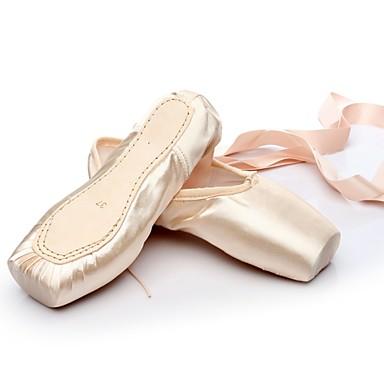 preiswerte Ballettschuhe-Tanzschuhe Seide Balletschuhe Flach, Ballerina Maßgefertigter Absatz Maßfertigung Rosa und Weiss / EU40