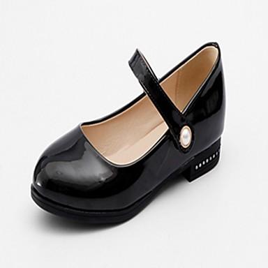 Mujer Zapatos Semicuero Primavera / Otoño Confort Bailarinas Tacón Bajo Blanco / Negro BdLi6w4