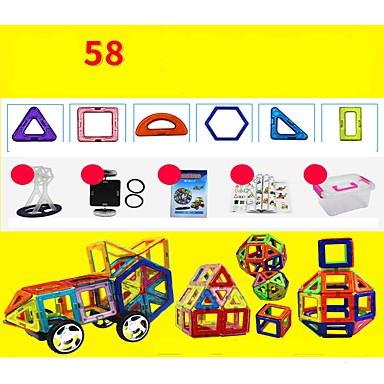 Μαγνητικό μπλοκ Μαγνητικά πλακίδια Τουβλάκια 58 pcs Αρχιτεκτονική Οχήματα Πολεμιστής Μεταμορφώσιμος Αλληλεπίδραση γονέα-παιδιού Σύγχρονο Κλασσικό & Διαχρονικό Κομψό & Μοντέρνο