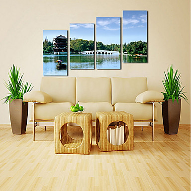 Canvas Set Classic, Four Panels Canvas Vertical Panoramic Print Wall ...