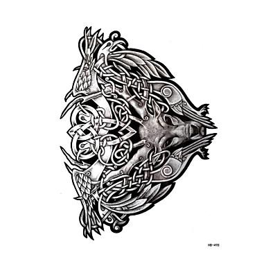1 pcs Αυτοκόλλητα Τατουάζ προσωρινή Τατουάζ Σειρά Άνιμαλ Τέχνες σώμα μπράτσο / ώμος