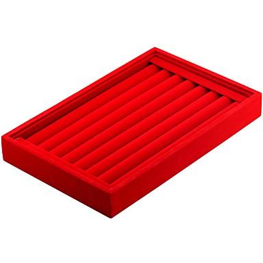 preiswerte Perlen & Schmuck Herstellung-Schmuckbehälter Manschettenknopf-Kasten Quadratisch Leinen Schwarz Weiß Rot Bonbonrosa Hellgrau Hartes Leder