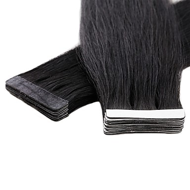 povoljno Ekstenzije za kosu-Neitsi S ljepljivom trakom Proširenja ljudske kose Ravan kroj Ljudska kosa Euroazijska kosa 1pack Žene Ženska Srednje smeđa