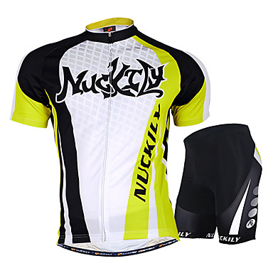 Nuckily Short Sleeve Cycling Jersey with Shorts - Green Bike Shorts Jersey  Clothing Suit Waterproof Breathable Ultraviolet Resistant Waterproof Zipper  ... 20fa27905