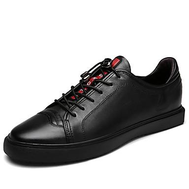 Hombre Zapatos Cuero de Napa Otoño Confort Zapatillas de deporte Blanco / Negro WcYMk