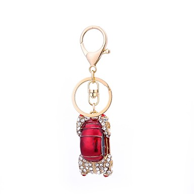 cheap Keychains-Keychain Car Casual Korean Ring Jewelry White / Red / Pink For Gift Daily