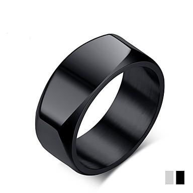 levne Pro muže-Pánské Band Ring Titan Matná černá Titan Ocel Circle Shape Klasické Módní Svatební Párty Šperky