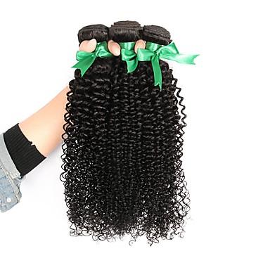 3 δεσμίδες Βραζιλιάνικη Kinky Curly Αγνή Τρίχα Υφάνσεις ανθρώπινα μαλλιών Υφάνσεις ανθρώπινα μαλλιών Επεκτάσεις ανθρώπινα μαλλιών / 10A / Kinky Σγουρό